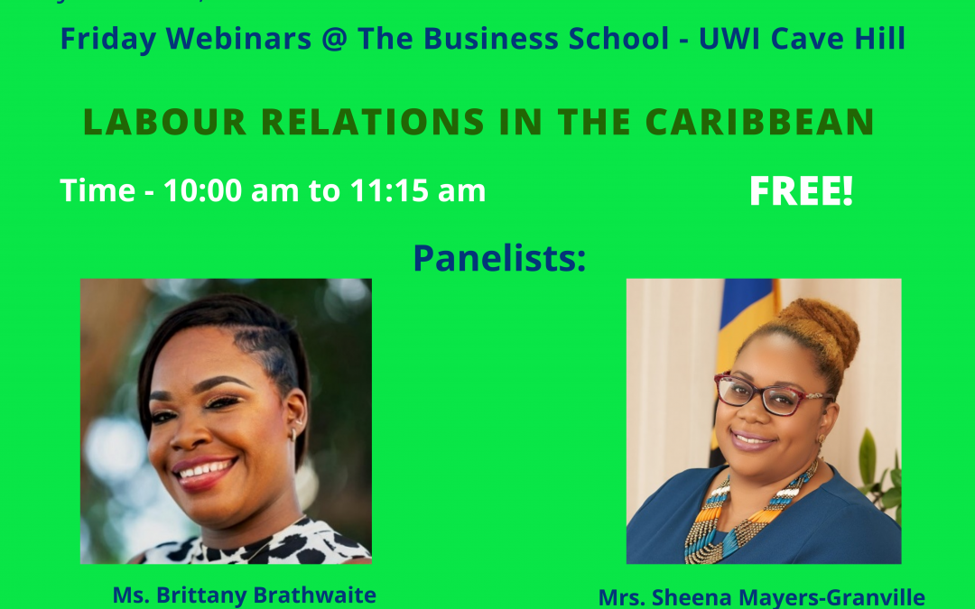 Webinar 9: Labour Relations In The Caribbean