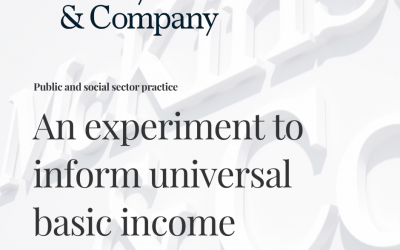 McKinsey & Company: An experiment to inform universal basic income