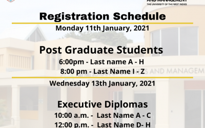 The Registration Schedule for Semester II, 2020/2021
