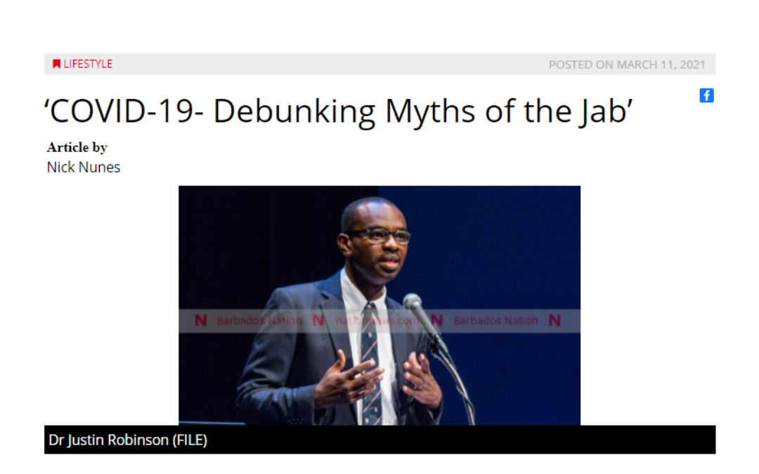 NationNews features our Debunking the Myth of the COVID-19 Vaccine Webinar
